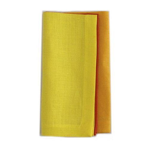 Tina Chen 3 Color Orange Yellow Napkin