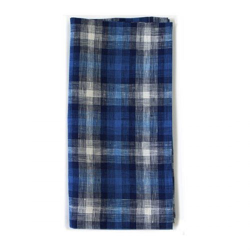 Tina Chen Bright Blue Plaid Napkin