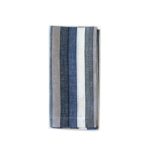 Tina Chen Designs Napkin Denim Grey Wide Stripe