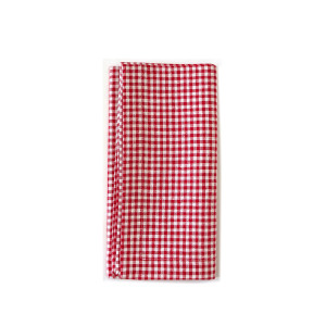 Tina Chen Designs Napkin Gingham Red & White