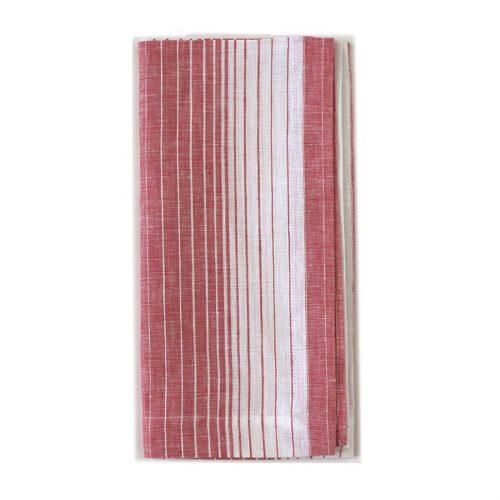Tina Chen Designs Napkin Red Valley Stripe