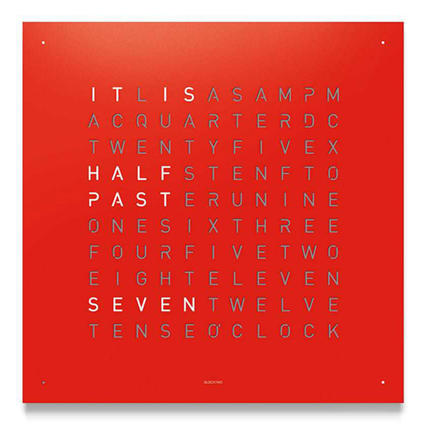 QLOCKTWO CLASSIC RED PEPPER