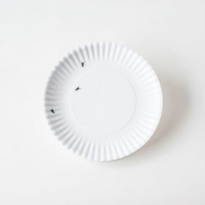 "180° Washable Paper/Melamine 11"" Dinner Plates Set/4"