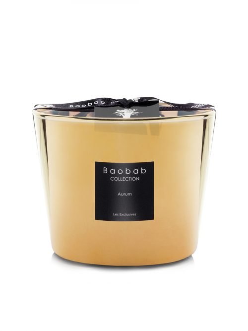 """Baobab Candle Collection - Les Exclusives Scented Candle - Aurum 3.9"""""""