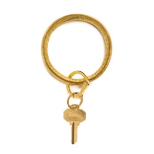 O-Venture Key Chain - EMBOSSED LEATHER - sOlid gOld rush crOc