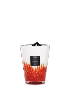 Baobab Candle Collection - Feathers Masaai - Red & White