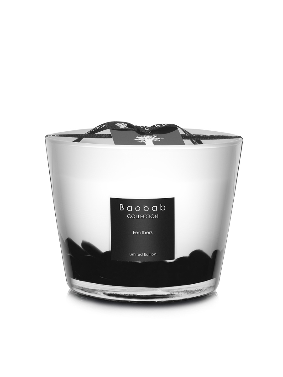 Baobab Candle Collection Feathers Black Amp White 3 9 Quot