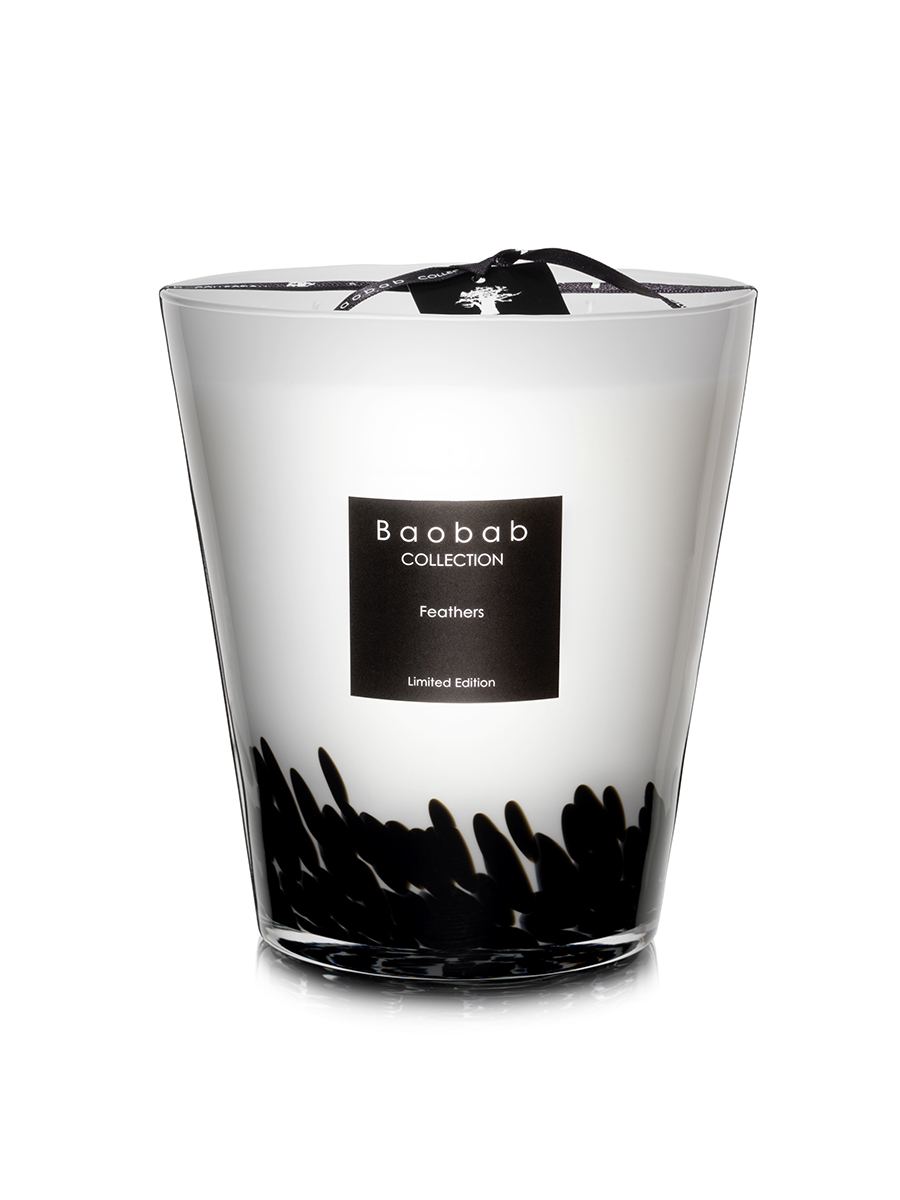 Baobab Candle Collection Feathers Black Amp White 6 3 Quot