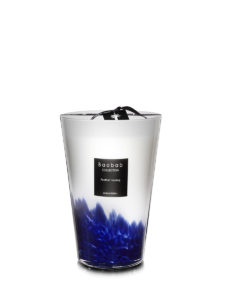 Baobab Candle Collection - Feathers Touareg - Blue & White