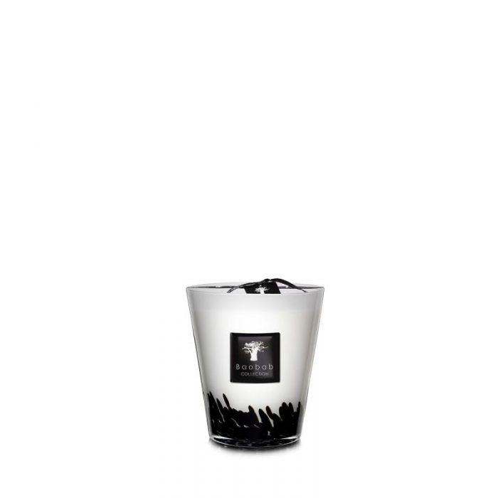 "Feathers Black & White 6.3"""