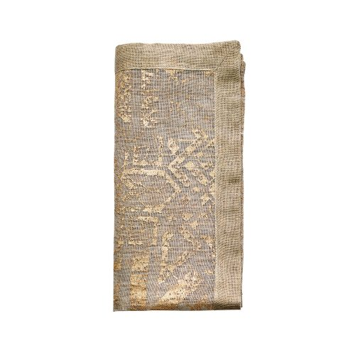 Kim Seybert DISTRESSED IN NATURAL & GOLD Napkin