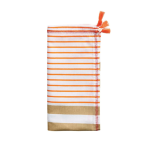 Kim Seybert JENGAA IN ORANGE & BROWN NAPKIN