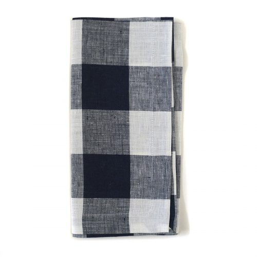 Tina Chen Designs Napkin Checked Black/White