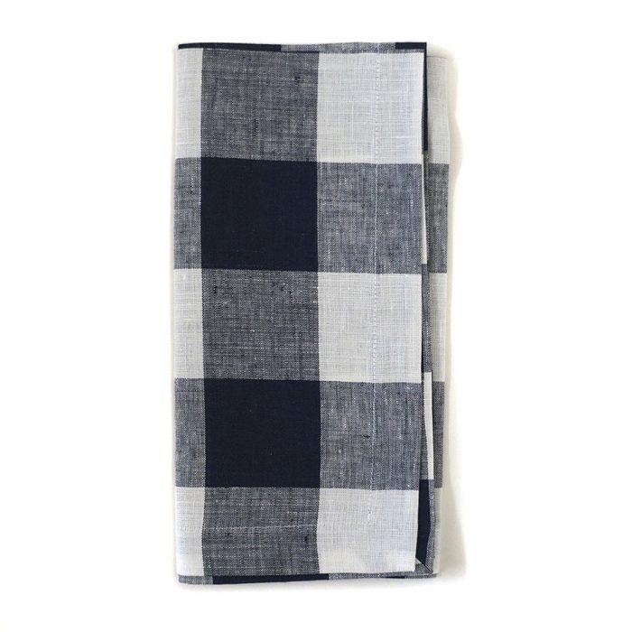 Tina Chen Designs Napkin Checked Black/White