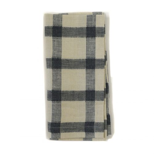 Tina Chen Designs Napkin Broad Stripe Black/Beige