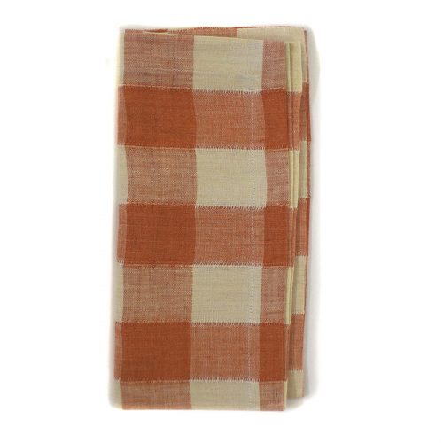 Tina Chen Designs Napkin Checked Orange/Beige