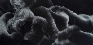 Evelyn Prelonge Black Faux Fur Throw