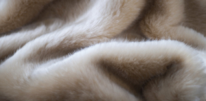 Evelyn Prelonge Cream Faux Fur Throw