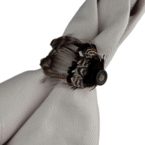 Juliska Feather Espresso Napkin Ring