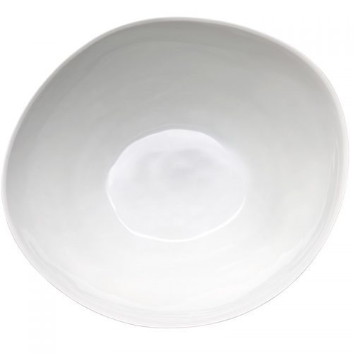 Tse & Tse WIDE & LOW FAMISHED SALAD BOWL, WHITE
