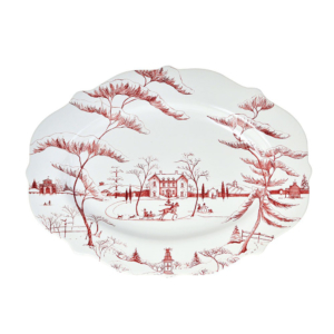 "Country Estate Winter Frolic Ruby 18.5"" Serving Platter Main House"
