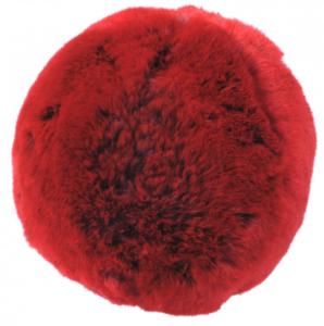 Evelyne Prelonge Faux Fur Snowball - Red