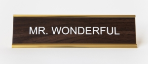 MR. WONDERFUL NAMEPLATE