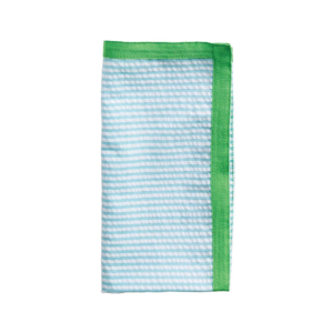 Kim Seybert SEERSUCKER RIBBON IN BLUE & GREEN NAPKIN