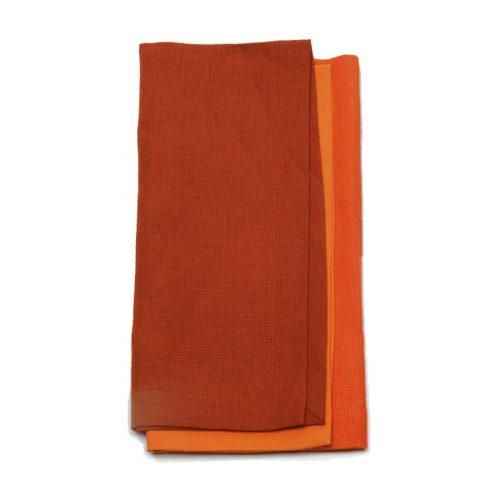Tina Chen Designs Napkin 3 Tone Rust & Orange