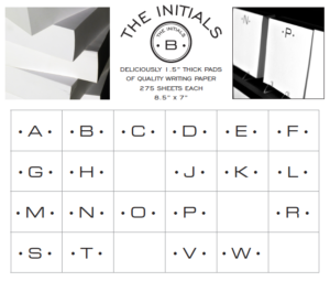 Black Ink LA LUXE INITIAL PADS