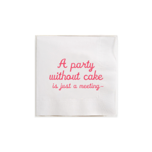 Ben's Garden-A Party Without Cake Amusing Cocktail Napkins
