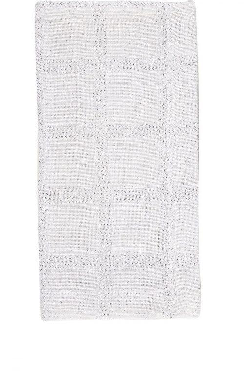 Deborah Rhodes Napkin Metallic Checked White