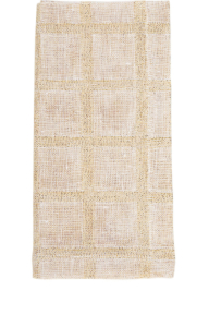 Deborah Rhodes Napkin Metallic Checked