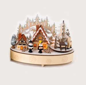 Alpine Scene Music Box With Mountain