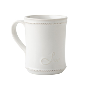 Juliska Berry & Thread Whitewash Cupfull of Love Mug