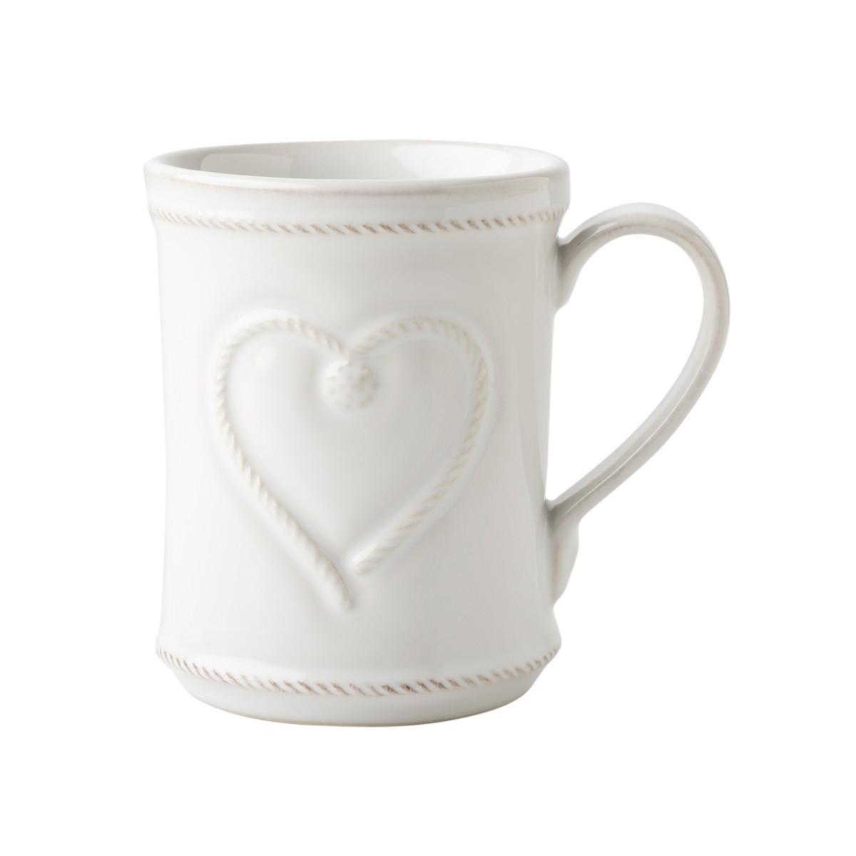 Juliska Berry & Thread Whitewash Cupfull of Love Mug
