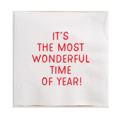 Ben's Garden-It's The Most Wonderful Time Of Year Amusing Cocktail Napkins