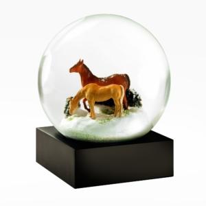 Cool Snow Globes-Horses