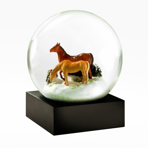 Cool Snow Globes-Horses