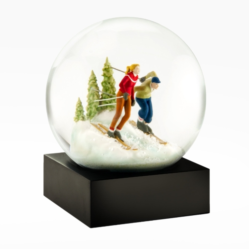 Cool Snow Globes-Skiers