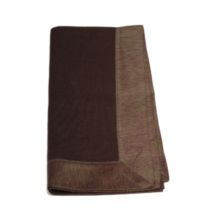 Tina Chen Designs Napkin Tone on Tone With Silk Border-Brown