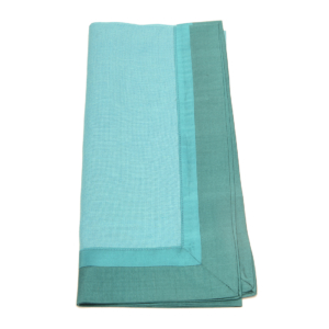 Tina Chen Designs Napkin Tone on Tone With Silk Borders-Aqua