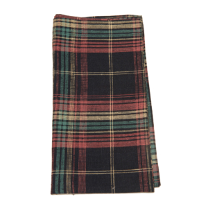 Tina Chen Designs Napkin Black Mulit Color Tartan