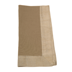 Tina Chen Designs Napkin Tone on Tone With Silk Border-Taupe