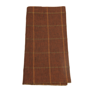 Tina Chen Designs Napkin Windowpane Stripe Terracotta