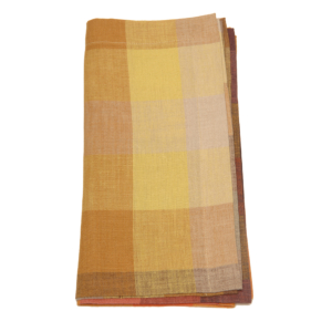 Tina Chen Designs Napkin Big Checked Orange