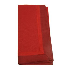 Tina Chen Designs Napkin Tone on Tone With Silk Border-Red