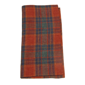 Tina Chen Designs Napkin Red Green Tartan