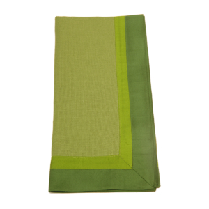 Tina Chen Designs Napkin Tone on Tone With Silk Border-Green