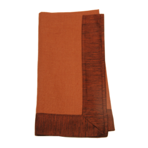 Tina Chen Designs Napkin Tone on Tone With Silk Border-Rust